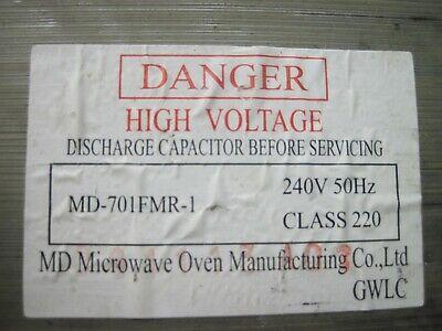 Micro-ondes Transformateur MD-801FTR-1