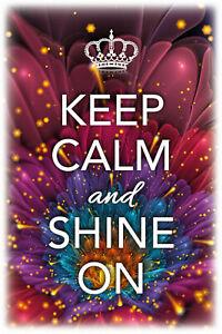 Keep-Calm-And-Shine-sur-Pancarte-en-Tole-Signe-Metal-Voute-Etain-20-X-30-cm