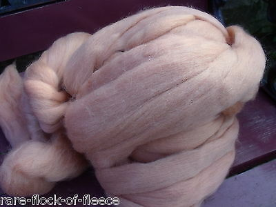 DYED MERINO WOOL ROVING CHAMPAGNE IDEAL SPINNING FELTING DREADS FIBRE ART