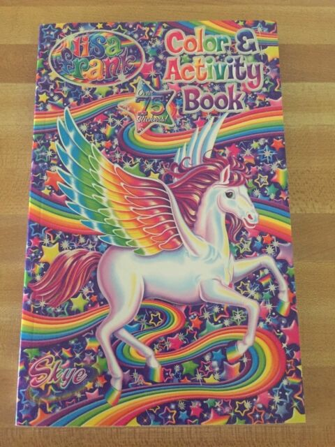 Lisa Frank Colouring Coloring Book With Stickers 90's Classic For Sale  Online EBay
