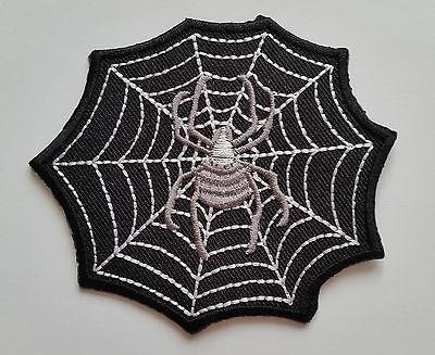 IRON ON PATCH: SPIDER/'S WEB a COBWEB HALLOWEEN NOVELTY GOTHIC CARTOON SEW ON