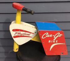 Vintage Playskool Car-Go Bike ride on replacement parts or repair 1960's wood