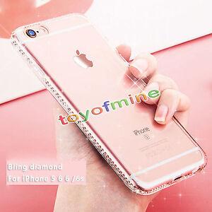 Luxe-Housse-Etui-Coque-Transparent-bling-TPU-Strass-diamant-pr-iPhone-6s-7-Plus