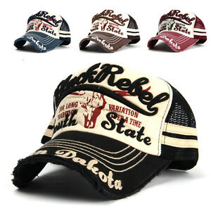 Black Rebel Embroidered Mesh Ball Cap Fashion Hat Baseball Trucker ... b16a6da05c3