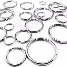 Split Rings Key Ring 15 20 24 25 30 32 35 mm - Pack Size 10 to 1000 keyring