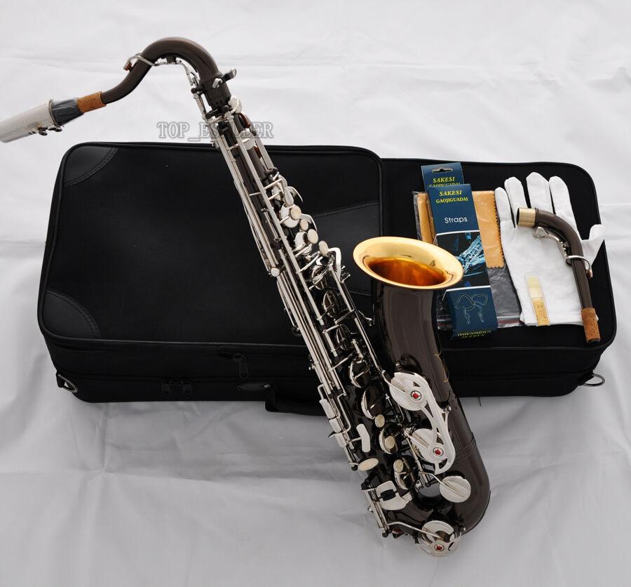 Professionelles schwarz Nickel Silber C Melody Saxophon Gold Bell Sax Hand Engraving