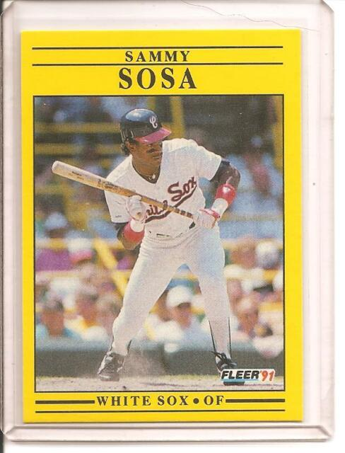 1991 Fleer Sammy Sosa 136 Baseball Card