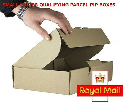10 x MIDI Size ROYAL MAIL SMALL PARCEL BOXES Packet PiP POSTAL 344mmX216mmX76mm