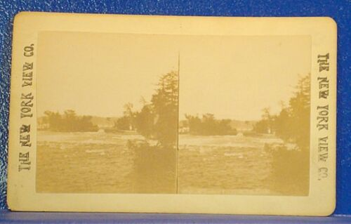 c1890 Real Photo Stereoview3 SISTERS ISLANDS