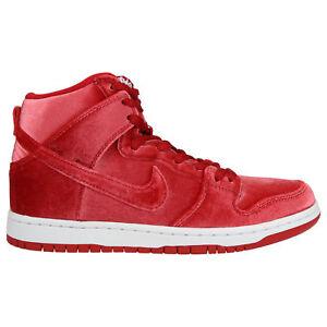 Nike-SB-Dunk-High-Premium-Schuhe-Turnschuhe-Sneaker-Skaterschuhe-Herren-Rot