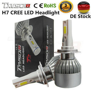 2x h7 cob cree led 110w 26000lm auto scheinwerfer kit. Black Bedroom Furniture Sets. Home Design Ideas