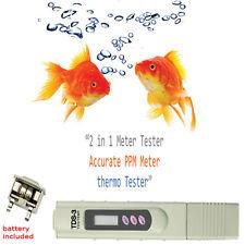 Aquariums Fish Tank Pond Salt Water Pool Quality Purity Tester Hydroponics Meter