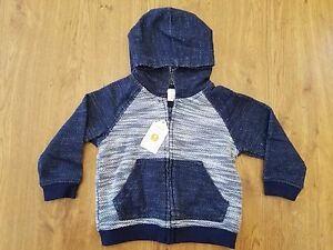 NWT Boy/'s Gymboree navy blue hoodie jacket ~ 3 6 12 18 months FREE SHIPPING!