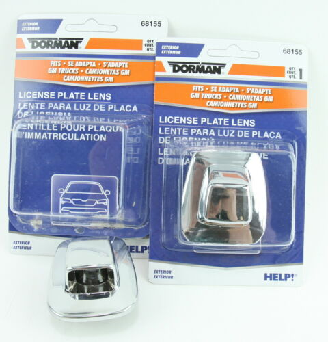 2 Dorman 68155 License Lamp Lens fits GM 916438 Trucks Tahoe Yukon Suburban S10