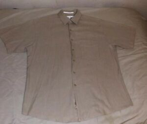 MENS-PERRY-ELLIS-LARGE-BUTTON-UP-SHORT-SLEEVE-SHIRT