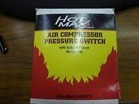 Hot Max 28071 Air Compressor Pressure Switch With Auto/off Lever, 95-125 Psi
