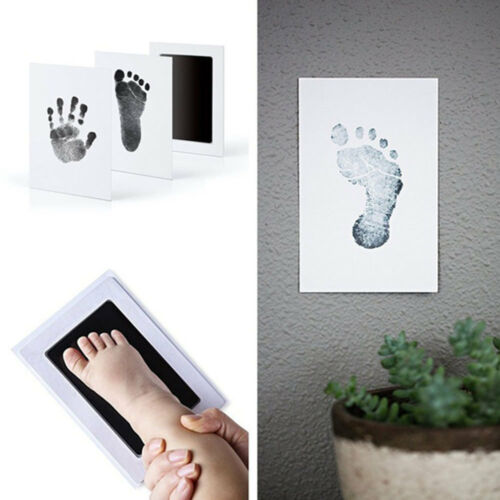 Baby Inkless Touch Footprint Handprint Ink Pad Mess Free Record Commemorate