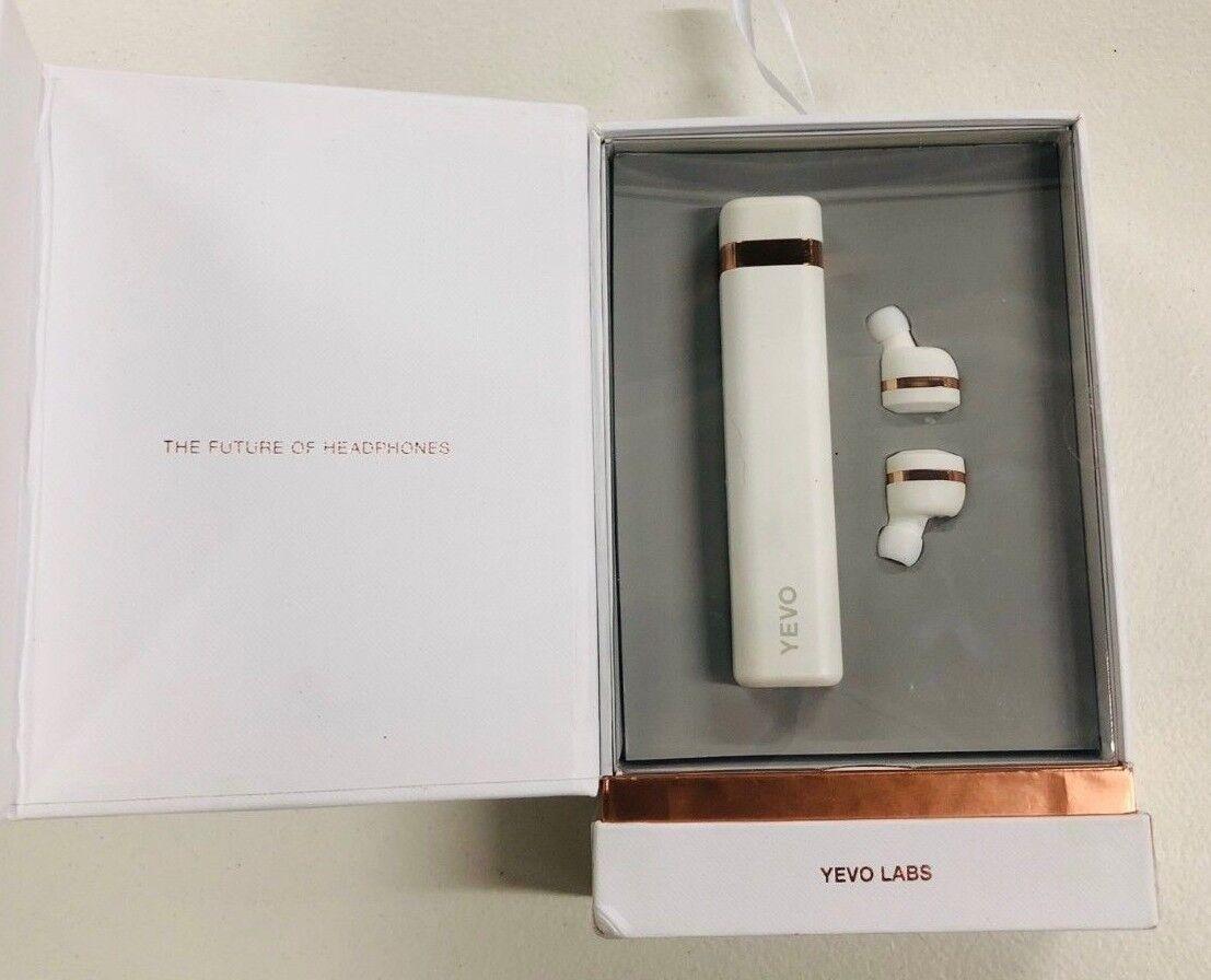 0451b3e9dc6 Yevo 1 True Wireless Headphones Earphones Earbuds Rechargeable White Rose  Gold for sale online | eBay