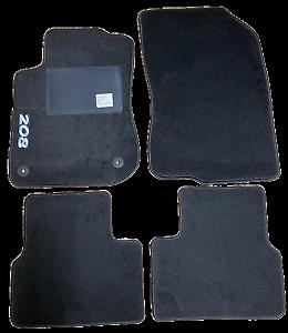 Kit-4-Tapis-de-sol-Auto-pour-PEUGEOT-208-de-2012-2015-avec-sigle-208-avec-CLI
