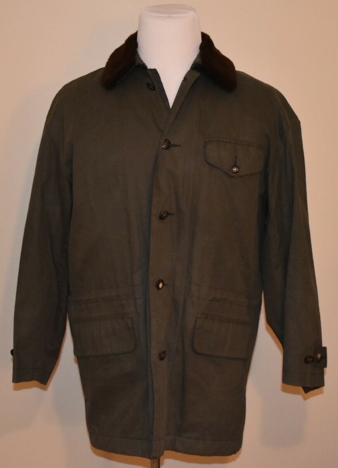 Ralph Lauren Purple Label Collection Mens Medium 100% Cotton Quilted Lining Coat