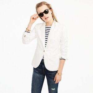 1e22cd3a New J. Crew Women's Unstructured Blazer in Cotton-Linen - White ...