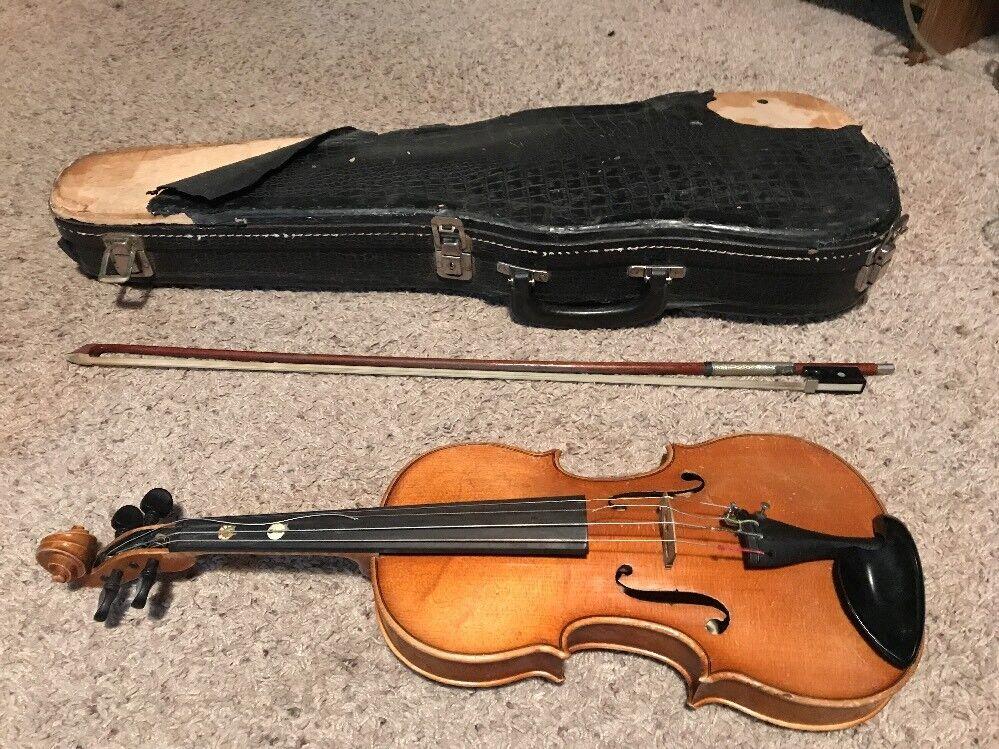 Anton Becker copie réplica Antonius Stradivarius Violín Alemania     3071  popular