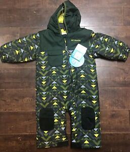 a84772e05 Columbia Sportswear Hot Tot Suit Snowsuit Green Infant Toddler Size ...