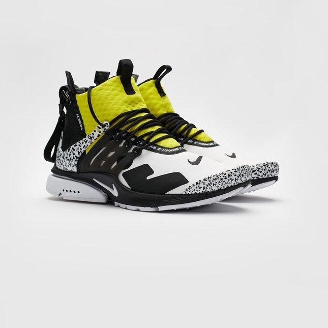 Nike NikeLab Air Presto Mid Acronym NRG AH7832-100 White Black Yellow Limited 7