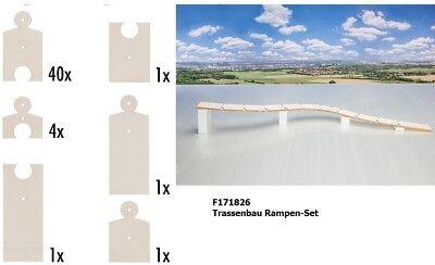 FALLER 171826 Brücke-Auffahrt Trassenbau Rampen-Set Länge 1784 mm NEU OVP