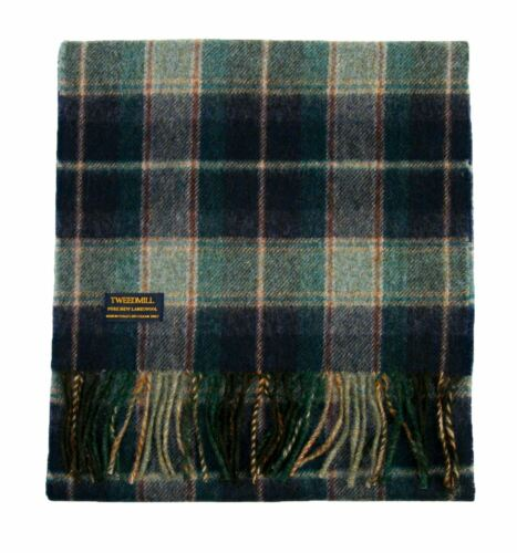 Country Check warm lambswool scarf British made by Tweedmill in 6 colours