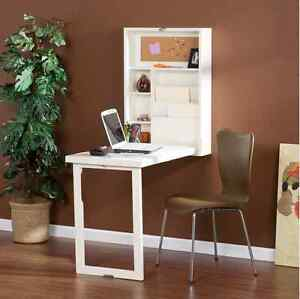 Image Is Loading White Fold Out Desk Wall Mount Dorm Space