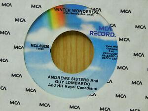 Andrews-Sisters-amp-Guy-Lombardo-christmas-45-Winter-Wonderland-bw-Christmas-MCA
