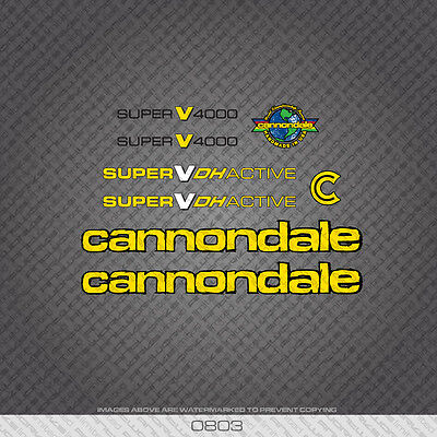 Cannondale Stickers  Set Silver Yellow /& Black.