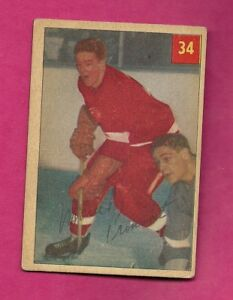 1954-55-PARKHURST-34-RED-WINGS-MARCEL-PRONOVOST-CARD-INV-A7566