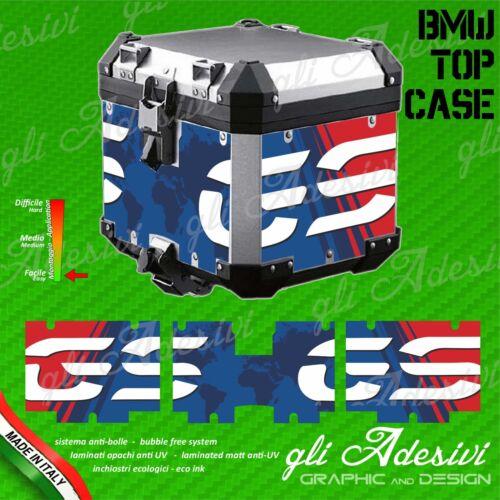 Set Completo 3 Adesivi Stickers TOP CASE BMW  bauletto bags R 1200 gs Anniv 30