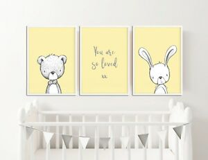 Nursery Decor Pictures Prints Rabbit