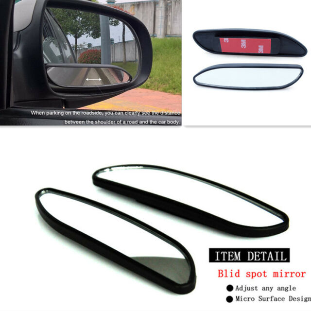 2Pcs Auto Car Adjustable Side Rearview Blind Spot Rear View Auxiliary Mirror ZY