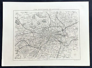 Map Of London And Surrounding Areas.Details About 1836 Moule Original Antique Map Of London And Surrounding Area