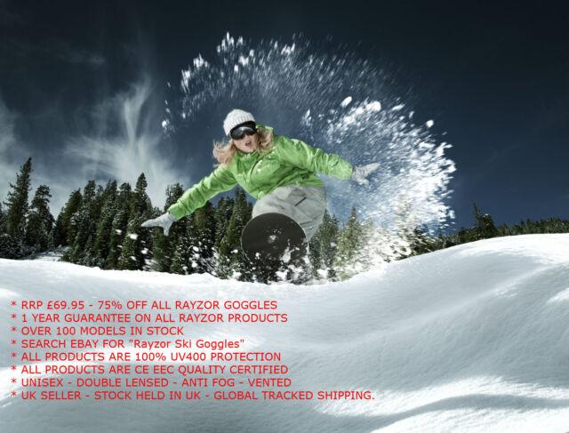 Rayzor Camo UV400 Anti Fog Blue Vented Double Lens Ski Snowboard Goggle RRP£69