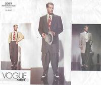 1940s Vintage VOGUE Sewing Pattern Chest 38-40-42 MEN'S ZOOT SUIT (R827)