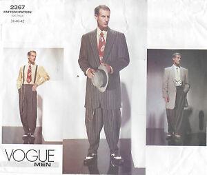 1940s-Vintage-VOGUE-Sewing-Pattern-Chest-38-40-42-MEN-039-S-ZOOT-SUIT-R827