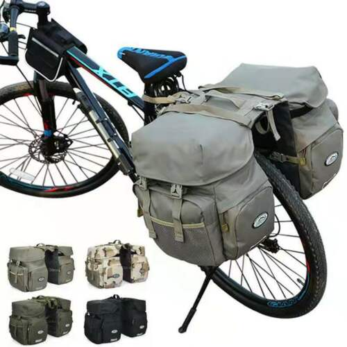 50L Bike Pannier Bag Waterproof Bicycle Racks Double Seat Carriers With Light