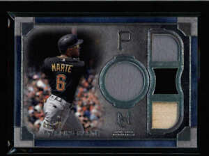 STARLING-MARTE-2019-TOPPS-MUSEUM-PRIMARY-PIECES-QUAD-JERSEY-BAT-08-99-AX9891