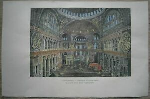 1887-Reclus-print-HAGIA-SOPHIA-AS-MOSQUE-ISTANBUL-TURKEY-74
