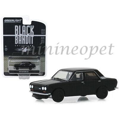 1970 Datsun 510  4-Door Custom *** Greenlight Black Bandit 1:64 NEU