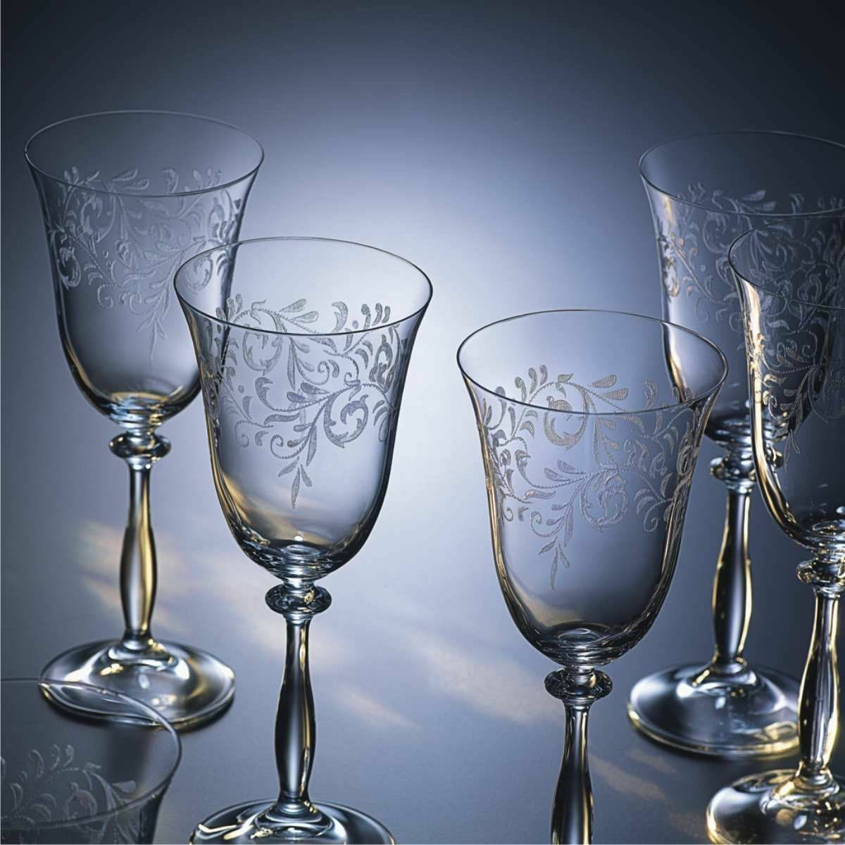 Copa cava, vasos set de vino, Model Royal-Ángela, cristal Bohemia, 6er set vasos ac2a91