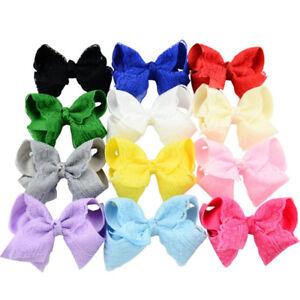 1-Piece-Baby-Girls-Alligator-Clip-Crochet-Big-Lace-Bow-Decor-Hair-Accessories