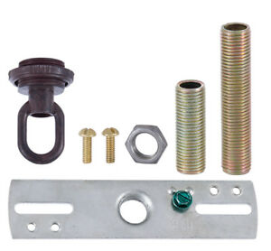 Oil Rubbed Bronze Ceiling Canopy Hardware Kit W Loop Hanging Light Gb164 Ebay