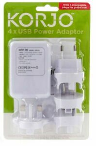 Korjo-4-Port-USB-World-Travel-Power-Adaptor-Charger-Plug-AU-NZ-UK-EU-US-JAPAN