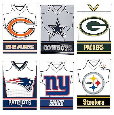 Large NFL Jersey Flag, BEARS, COWBOYS, PACKERS, GIANTS, PATRIOTS, STEELERS Flag